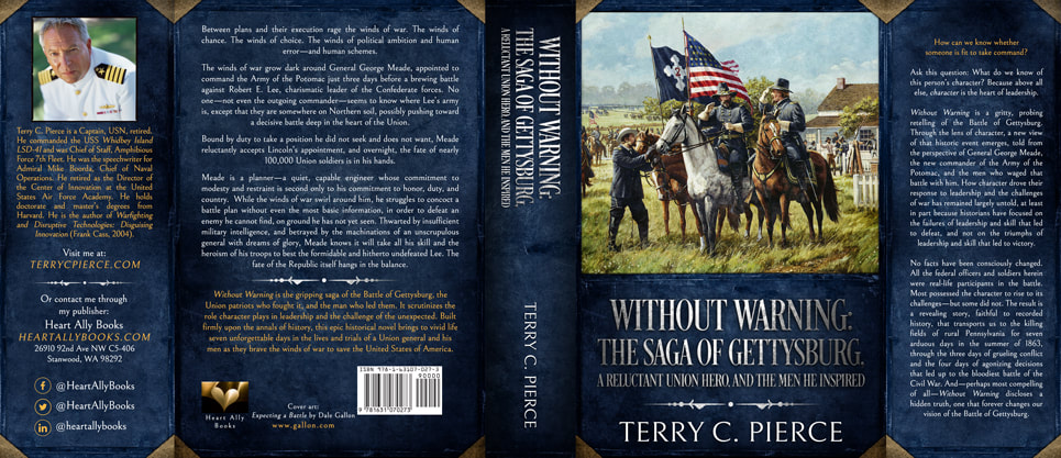 Dust Jacket cover design for Hardcover : Without Warning by Terry C. Pierce