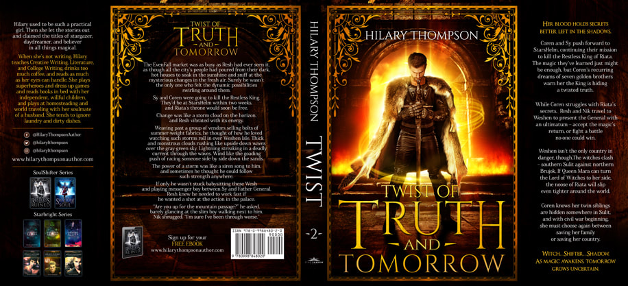 Dust Jacket cover design for Hardcover : Twist Of Truth And Tomorrow by Hilary Thompson