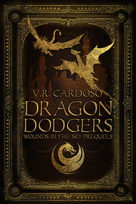 Science Fiction & Fantasy book cover design, ebook kindle amazon, V R Cardoso, Dragon