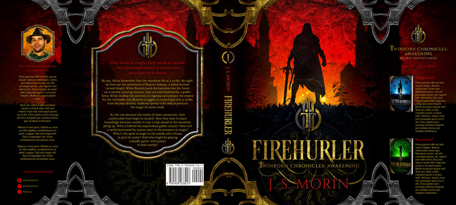 Dust Jacket cover design for Hardcover : Firehurler by J S Morin
