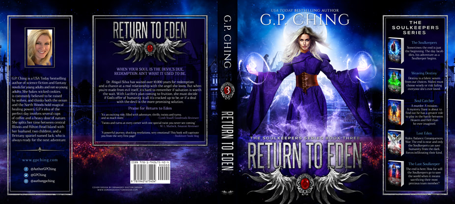 Dust Jacket cover design for Hardcover : Return To Eden by G.P. Ching