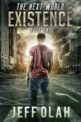 ebook cover design PA, post-apocalyptic award best cover Jeff Olah, Existence