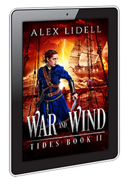 ebook cover design for War and Wind by Alex Lidell