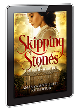 ebook cover design for  Skipping Stones by Ananya and Brett Ridenour