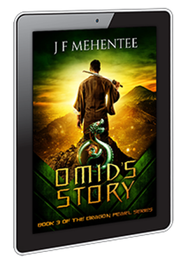 ebook cover design for Omid's Story by J F Mehentee