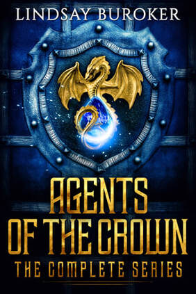 Fantasy book cover design, Lindsay Buroker, Agents of the Crown