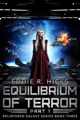 Science Fiction Fantasy book cover design, ebook kindle amazon, Eddie R Hicks, Equilibrium
