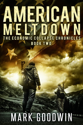 Post-Apocalyptic book cover design, ebook kindle amazon, Mark Goodwin, Meltdown