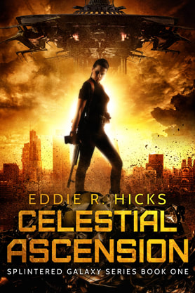 Science Fiction Fantasy book cover design, ebook kindle amazon, Eddie R Hicks, Ascension