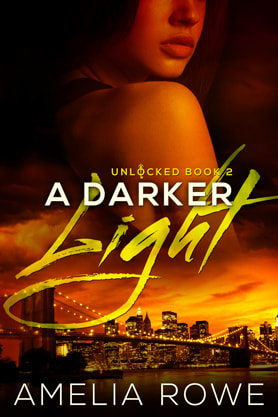 Romantic Suspense book cover design, ebook kindle amazon, Amelia Rowe, Light
