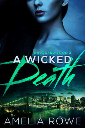 Romantic Suspense book cover design, ebook kindle amazon, Amelia Rowe, Death
