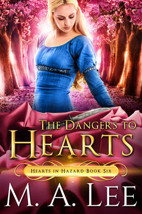 Historical romance book cover design, ebook kindle amazon, M.A.Lee, The Dangers to  Hearts