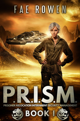 Science Fiction Fantasy book cover design, ebook kindle amazon, Fae Rowen, Prism