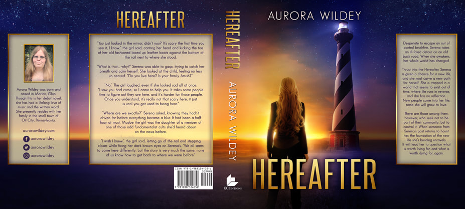 Dust Jacket cover design for Hardcover : Hereafter by Aurora Wildey