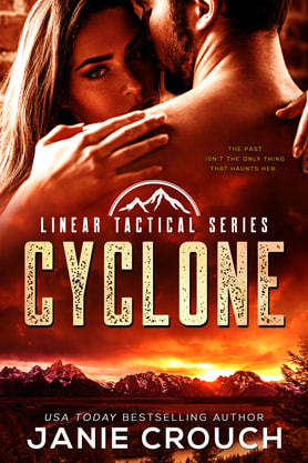 Romantic Suspense book cover design, ebook kindle amazon, Janie Crouch, Cyclone