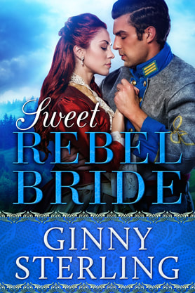 Historical Romance book cover design, ebook kindle amazon, Ginny Sterling, Rebel Bride