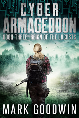 Post-Apocalyptic book cover design, ebook, kindle, amazon, Mark Goodwin, Cyber Armageddon