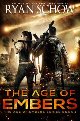 Post-Apocalyptic book cover design, ebook, kindle, amazon, Ryan Schow, Embers
