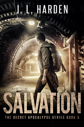 Post-Apocalyptic book cover design, ebook kindle amazon, J L Harden, Salvation