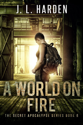Post-Apocalyptic book cover design, ebook kindle amazon, J L Harden, Fire