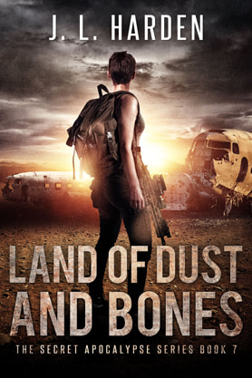 Post-Apocalyptic book cover design, ebook kindle amazon, J L Harden, Bones