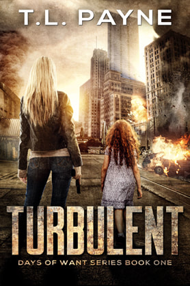 Post-Apocalyptic book cover design, ebook kindle amazon, Turbulent, TL Payne