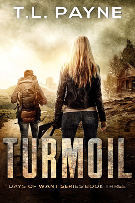 Post-Apocalyptic book cover design, ebook kindle amazon, Turmoil, TL Payne