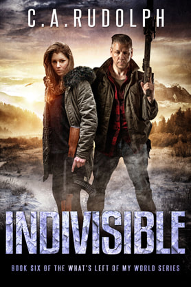 Post-Apocalyptic book cover design, ebook kindle amazon, C A Rudolph, Indivisible