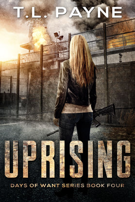 Post-Apocalyptic book cover design, ebook kindle amazon, Uprising, TL Payne