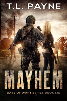 Post-Apocalyptic book cover design, ebook kindle amazon, Mayhem, TL Payne