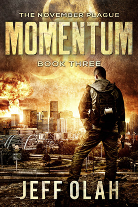 Post-Apocalyptic book cover design, ebook kindle amazon, Jeff Olah, Momentum