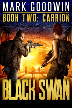 Post-Apocalyptic book cover design, ebook kindle amazon, Mark Goodwin, Carrion
