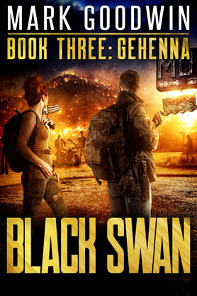 Post-Apocalyptic book cover design, ebook kindle amazon, Mark Goodwin, Gehenna