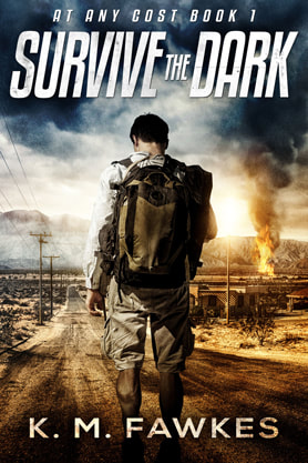Post-Apocalyptic book cover design, ebook, kindle, amazon, K M Fawkez, Dark