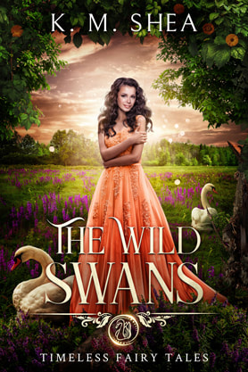 Young Adult Fantasy book cover design, ebook kindle amazon, K M Shea, Wild Swans