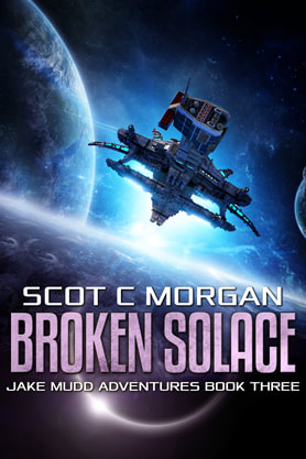 Science Fiction Fantasy book cover design , ebook kindle amazon, Scot C Morgan, Solace